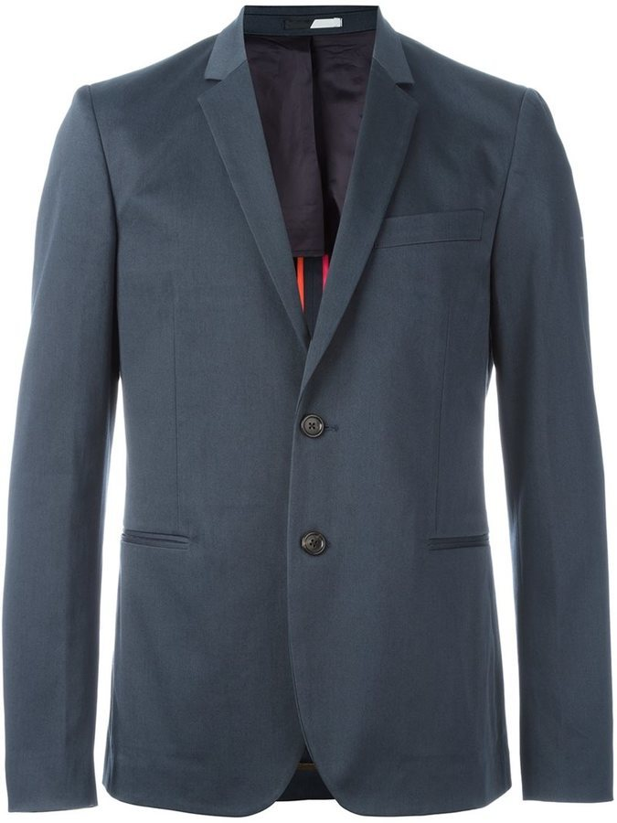 Blazer de Algodón Azul de Paul Smith