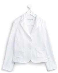 Blazer de algodón blanco de Simonetta