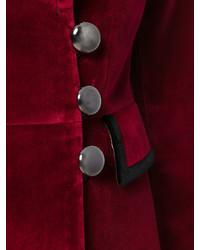 Blazer de Algodón Burdeos de Dolce & Gabbana