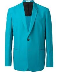 Blazer de algodón en verde azulado