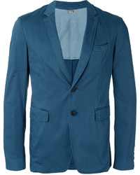 Blazer de algodón en verde azulado de Burberry