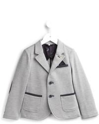 Blazer de algodón gris de Armani Junior