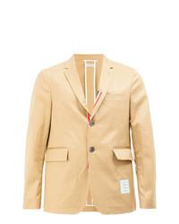 Blazer de algodón marrón claro de Thom Browne