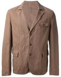 Blazer de algodón marrón