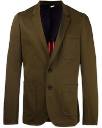 Blazer de Algodón Verde Oliva de Paul Smith