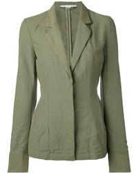 Blazer de algodón verde oliva de Stella McCartney