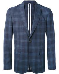 Blazer de lana a cuadros azul marino de Hardy Amies