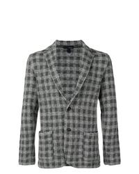 Blazer de lana a cuadros en gris oscuro de Lardini