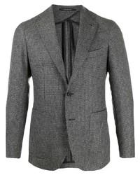 Blazer de lana a cuadros en gris oscuro de Tagliatore