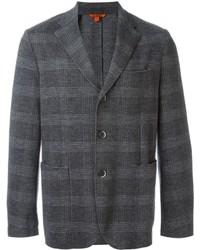 Blazer de lana a cuadros gris de Barena