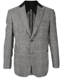 Blazer de lana a cuadros gris de Brioni