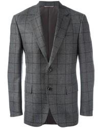 Blazer de lana a cuadros gris de Canali