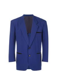 Blazer de lana azul marino de Comme Des Garçons Vintage