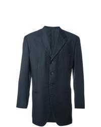 Blazer de lana azul marino de Romeo Gigli Vintage