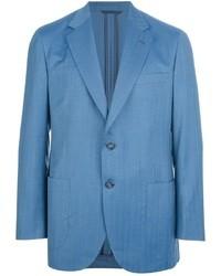 Blazer de lana azul