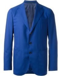 Blazer de lana azul de Caruso