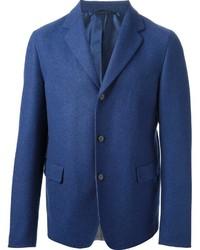 Blazer de lana azul de Jil Sander