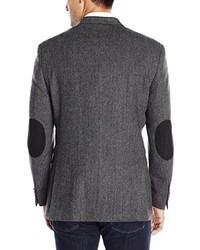 Blazer de lana de espiguilla gris de Tommy Hilfiger