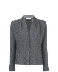 Blazer de lana de punto gris de Fabiana Filippi