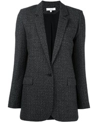 Blazer de lana en gris oscuro