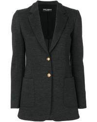 Blazer de lana en gris oscuro de Dolce & Gabbana