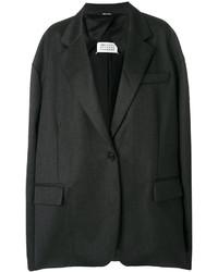 Blazer de lana en gris oscuro de Maison Margiela
