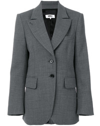 Blazer de lana en gris oscuro de MM6 MAISON MARGIELA
