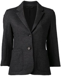 Blazer de lana en gris oscuro de The Row