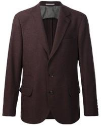 Blazer de lana en marrón oscuro de Brunello Cucinelli