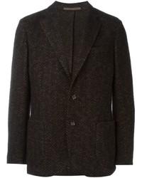 Blazer de lana en marrón oscuro de Eleventy