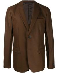 Blazer de lana en marrón oscuro de Prada