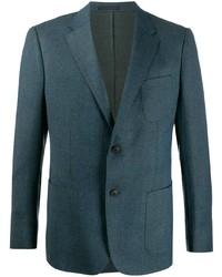 Blazer de lana en verde azulado de Z Zegna