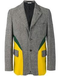 Blazer de lana estampado gris de Comme Des Garçons Pre-Owned