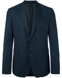 Blazer de Lana Gris Oscuro de Paul Smith