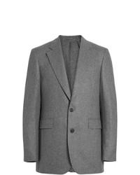 Blazer de lana gris de Burberry