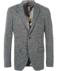 Blazer de lana gris de Etro
