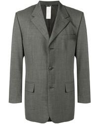 Blazer de lana gris de Versace Pre-Owned