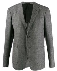 Blazer de lana gris de Z Zegna