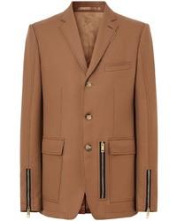 Blazer de lana marrón claro de Burberry