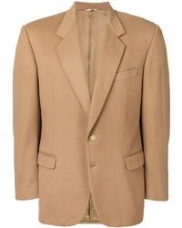 Blazer de lana marrón claro de Pierre Cardin Pre-Owned