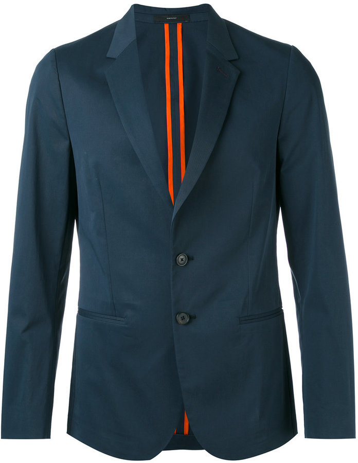 Blazer de Lana Verde Azulado de Paul Smith