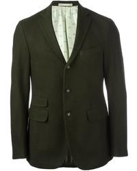 Blazer de lana verde oscuro de Massimo Alba
