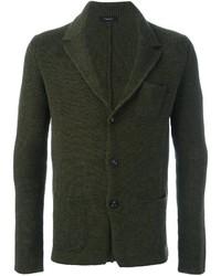 Blazer de lana verde oscuro de Roberto Collina