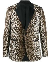 Blazer de leopardo marrón de Versace