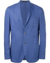 Blazer de Lino Azul de Corneliani