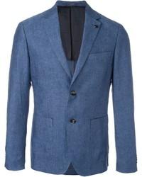 Blazer de Lino Azul de Michael Kors