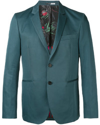 Blazer de Lino en Verde Azulado de Paul Smith