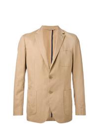 Blazer de lino marrón claro de Michael Kors Collection