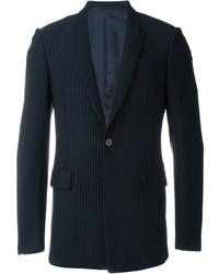 Blazer de rayas verticales azul marino de Givenchy