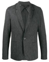 Blazer de rayas verticales en gris oscuro de Lanvin